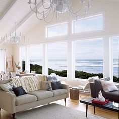 Beach house view
