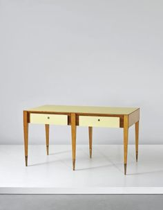 Gio Ponti, Partners Desk for Vembi-Burroughs offices, Genoa, c 1951