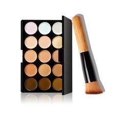 Hot 15 Makeup Concealer To Hide Blemishes Primer Natural Facial Contour Cosmetic Concealer Palette For mac Foundation VH006