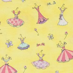 Fairydust and Flowers Fabric by Dena and Friends by Kinderbibbles, $6.00