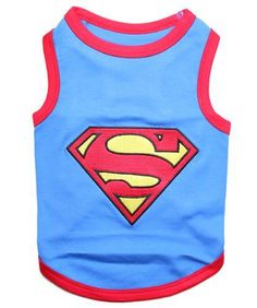 Parisian Pet Superman Dog T-Shirt, Large - http://www.thepuppy.org/parisian-pet-superman-dog-t-shirt-large/