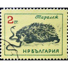 Bulgaria, Wild Life, Mongoose and snake, 2 Ct, 1961 used