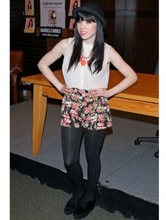 Love Carly Rae Jepsen's floral shorts!