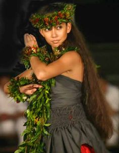 Merrie Monarch annual Hula Festival in downtown Hilo.