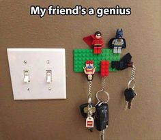 Lego. Keys. Always easy to find!