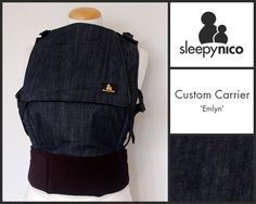 The understated 'Emlyn'. Simple, elegant and practical. Custom made baby carrier from Sleepy Nico. Ergonomic Baby Carrier, Elegant, Simple, Bags, Classy, Handbags, Chic, Taschen, Purse