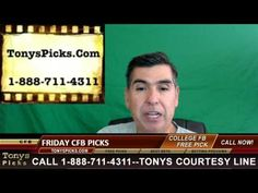 Friday College Football Picks Betting Predictions Point Spread Odds 10-2...