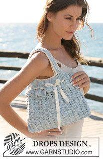 Crochet Shoulder Bag/Purse Handbag with Ribbon by Silkwithasizzle