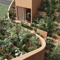 Penda unveiled designs for Yin & Yang House, an off-grid home Kassel, Germany with a stunning rooftop garden.