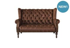 Windham Small Leather Sofa - New England - Gorgeous Living Room Furniture from Furniture Village