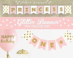 Princess Party Decorations  Princess Baby Shower  por PoshSoiree
