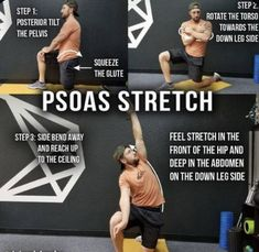 Hip Flexor Pain, Hip Flexor Exercises, Scoliosis Exercises, Tight Hip Flexors, Hip Pain, Yoga Exercises, Back Exercises, Back Pain, Stability Exercises