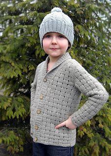 Forest Walk Kid cardigan with shawl collar