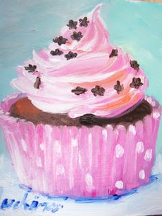 Susan Jenkins Morning Paintings: Search results for Cupcake