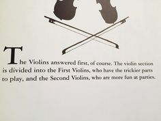 Hahaha we are number one! -First Violins ;)