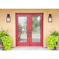 Front Door Paint Colors, Painted Front Doors, Front Door Design, Front Door Decor, Door Entryway, Outdoor Wall Lantern, Outdoor Wall Lighting, Outdoor Walls, Outdoor Sconces