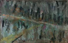 Tomáš Bambušek | Tomáš Bambušek | Nejspíš mokrá cesta, nebo křižovatka, 180x130cm, olej na plátně, 2012. #madeinBUBEC