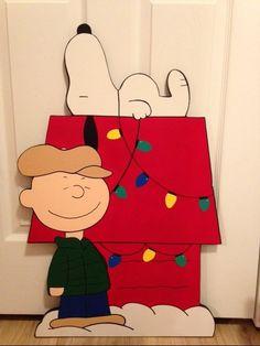 peanuts christmas yard art charlie brown by PlayfulYardArt on Etsy