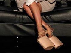 Gaga over shoes with no heels