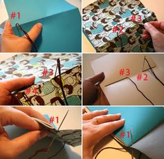 Paperfection's Art & Craft: How to Make a Simple Cahier or Notebook