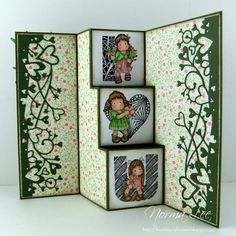 From My Craft Room: Template For A 3-Step Card (4 1/4 x 6)    GREAT tutorial for this lovely card!!! Thanks again  Norma!!!