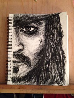 Charcoal art jack sparrow (Johnny Depp)