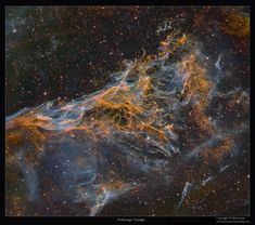 Veil Nebula itself is a large supernova remnant, an expanding cloud born of the death explosion of a massive star. Cataloged as NGC 6979, the complex of filaments might be more appropriately known as Williamina Fleming's Triangular Wisp. NASA Astronomy Picture of the Day: September 17, 2015