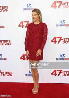 Actress Claire Holt attends the premiere of '47 Meters Down' at The Regency Village Theatre on June 12 2017 in Westwood California