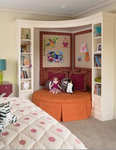 little girl room...love this...even in a baby's room it will give you a place to sit with a restless baby!