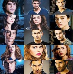 The characters of Teen Wolf through out the seasons
