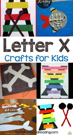Letter X Crafts Letter X Crafts for preschool or kindergarten - Fun, easy and educational! Students will have fun learning and making these fun crafts! Easy Preschool Crafts, Abc Crafts, Alphabet Crafts, Preschool Letters, Preschool Art, Alphabet Art, Kids Letters, Spanish Alphabet, Preschool Learning Activities
