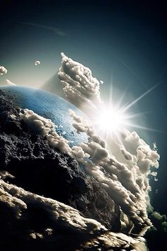 Beautiful image from outer-space of the clouds and the Earth All Nature, Science And Nature, Amazing Nature, Cool Pictures, Cool Photos, Beautiful Pictures, Mother Earth, Mother Nature, Ciel Nocturne