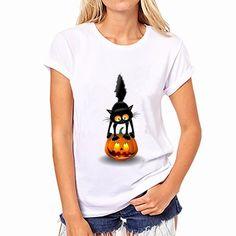 2017 Brand New Fashion Women T-shirt Brand Tee Tops Print  Short Sleeve Black Cat Tops O-neck Loose T Shirt Free Shipping #Affiliate