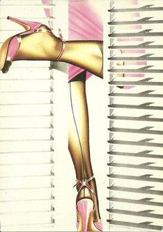 GALLERY CARD -  PINK LEGS  BY ALAN DANIELS. | eBay