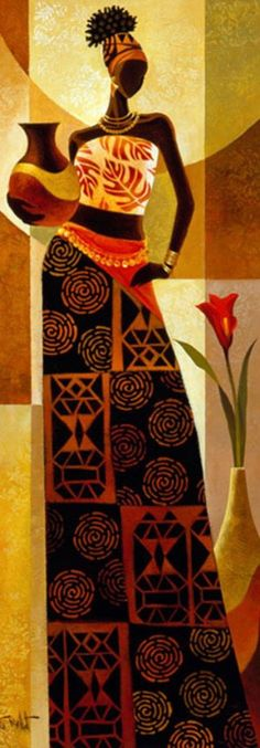 African American Art, African Women, Afrique Art, African Art Paintings, Black Art Painting, Painting People, Afro Art, Black Women Art, Female Art