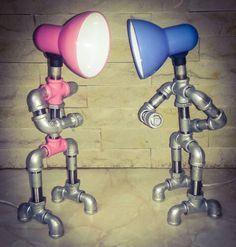 diy copper pipe lamp for sale Pipe Lighting, Industrial Lighting, Lighting Design, Industrial Pipe, Lampe Steampunk, Lampe Tube, Pipe Decor, Galvanized Pipe, Diy Pipe