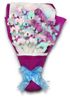 ThinkGeek :: Plush Unicorn Bouquet