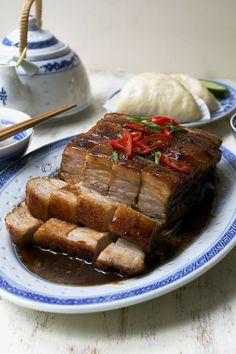 Twice Cooked Melting Pork Belly Pressure Cooker Pork Belly, Pressure Cooker Recipes, Twice Cooked Pork, Pork Belly Recipes, Asian Cooking, Cooking Salmon, Pork Dishes, Mets, Food Menu