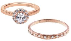 9 Gorgeous Engagement Ring + Wedding Band Combos - Gabriel & Co. ANDYAYOI FOREST  - from InStyle.com