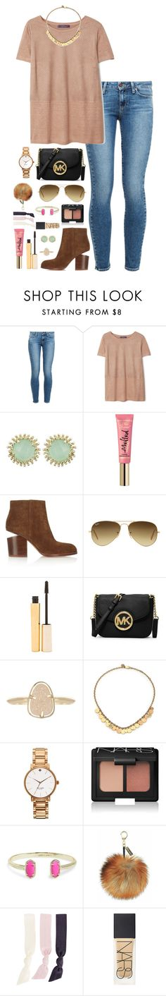 """comment below some of your favorite accounts on polyvore atm!! i'm looking for some new people !"" by thatprepsterlibby ❤ liked on Polyvore featuring Paige Denim, Violeta by Mango, Kendra Scott, Too Faced Cosmetics, Alexander Wang, Ray-Ban, Stila, MICHAEL Michael Kors, Tory Burch and Kate Spade"