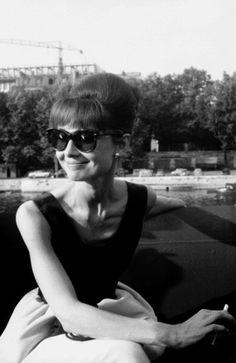 Audrey Hepburn in Paris, France for a media junket for the film Paris When it Sizzles, 1962.