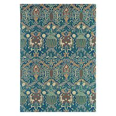Buy Morris & Co Granada Rug, Blue Online at johnlewis.com