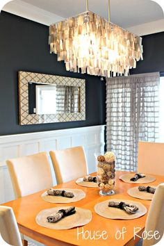 """Dark Gray Wall Color – 4005-2C Mark Twain Gray Brick {Lowes}   """"Reflectionscollection"""" mirrored buffet/cabinet (not seen) from Home Decorators"""