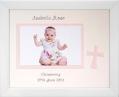Photo Insert Personalised Glass Dome Baby Christening Gift Idea