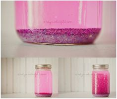 "The Calming Jar -it's a more positive ""time out"" than sending them into a corner, to their bedroom etc.  The child shakes the jar and watches the glitter settle back down at the bottom...providing the child time to breathe, observe and relax."