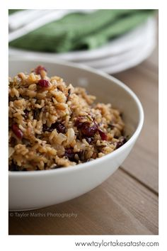 Cranberry Wildrice. This is a great side dish for a weeknight meal!