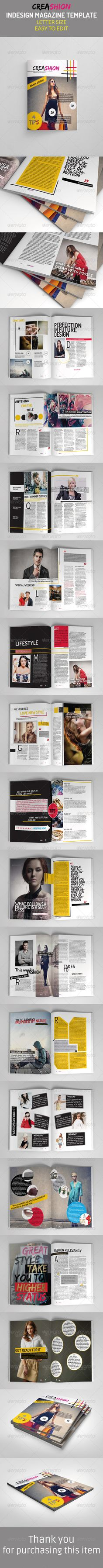 Creative Fashion Magazine by WattCore Multipurpose Creative Fashion MagzThis is a professional and creative InDesign magazine template that can be used forany type of i
