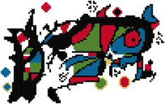 Joan Miró cross stitch pattern This PDF pattern includes: – full color chart (symbols over color) – list of thread colors (DMC and Anchor) – … The post Joan Miró PDF pattern appeared first on easy peasy stitches. Cross Stitches, Cross Stitch Patterns, Joan Miro, Colour List, Pdf Patterns, Easy Peasy, Anchor, Symbols, Chart