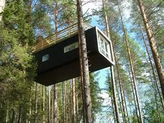 Scandinavian cabins: Treehotel, Boreal forest, near Luleå, Lapland, Sweden Scandinavian Cabin, Scandinavian Fashion, Modern Tree House, Treehouse Hotel, Treehouse Kids, Cool Tree Houses, Boutique Homes, In The Tree, 10 Tree