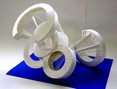 生徒作品|大橋美術研究所・美大受験予備校 Cardboard Sculpture, Pottery Sculpture, Modern Sculpture, Abstract Sculpture, Paper Folding Designs, Conceptual Model Architecture, Interior Design Renderings, Nightclub Design, Organic Art